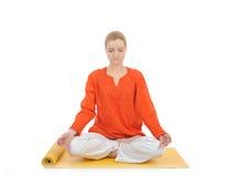Series or yoga photos. woman meditating Stock Photo