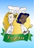 serieveganvegetarian stock illustrationer