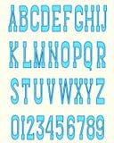 Serif font blue Stock Photos