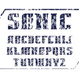 Serif font bold geometric constructed Royalty Free Stock Images