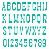 Serif font green Stock Photography
