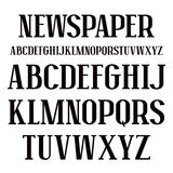 Serif font in newspaper style Royalty Free Stock Photography
