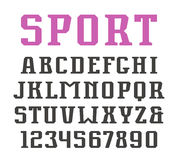 Serif font and numerals in urban style Stock Photography