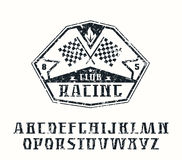 Serif font and racing emblem Royalty Free Stock Photography