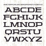 Serif font in retro racing style Royalty Free Stock Images