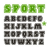 Serif font in sport style Stock Images