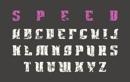 Serif font in the style of hand-drawn graphics Stock Photo