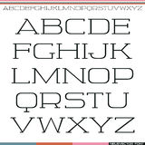Serif font thin line Stock Image
