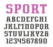 Serif liczebniki w miastowym stylu i chrzcielnica Fotografia Stock