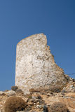 Serifos-Cyclades, Greece. Τhe ruins of a windmill in the settlement of Serifos Royalty Free Stock Photos