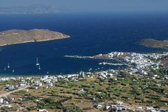 Serifos-Cyclades, Greece. Beach Avlomona in Livadi Serifos Stock Image