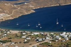 Serifos-Cyclades, Greece. Beach Avlomona in Livadi Serifos Royalty Free Stock Photos