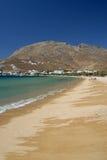 Serifos-Cyclades, Greece. The beach of Livadi Avlomona Stock Photos