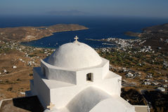 Serifos-Cyclades, Greece. Church with special Cycladic architecture Royalty Free Stock Photo