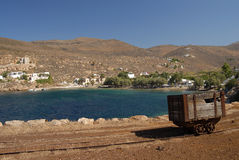 Serifos-Cyclades, Greece. Derelict premises iron ore mine Royalty Free Stock Photography