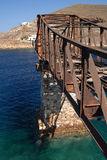 Serifos-Cyclades, Greece. Lines remnants of the old mines Royalty Free Stock Photo