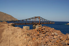 Serifos-Cyclades, Greece. Lines remnants of the old mines Stock Images