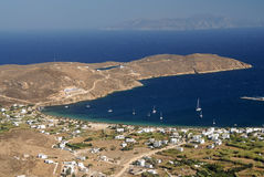 Serifos-Cyclades, Greece. Livadi as distinguished from the settlement Royalty Free Stock Photos