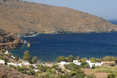 Serifos-Cyclades, Greece. A picturesque coastal settlement Megalo Livadi Royalty Free Stock Image