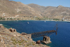Serifos-Cyclades, Greece. Remnants of the old mines Stock Images