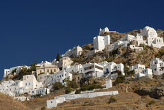 Serifos-Cyclades, Greece. The settlement of Serifos Cycladic architecture with particular Stock Images