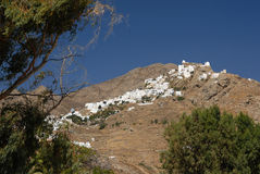 Serifos-Cyclades, Greece. The village is built on top of a mountain Royalty Free Stock Photography