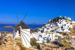 Serifos island,  view of Hora village Royalty Free Stock Photography