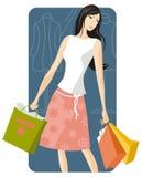 serii ilustracyjny na zakupy. ilustracja wektor