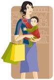 serii ilustracyjny na zakupy. Zdjęcia Stock