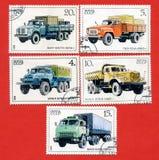 serii znaczków ciężarówki zdjęcie royalty free