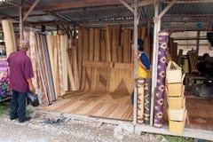 Serikin Market, Sarawak. SARAWAK, MALAYSIA-JUNE 2: Kasah or traditional Bidayuh's mattress on sale at the Serikin weekend market near Malaysia/Indonesia border Stock Photo