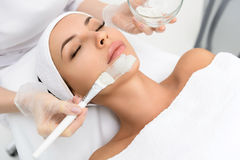 Serine woman having skin care treatment Stock Images