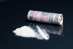 Seringue, drogues, héroïne, cocaïne Image libre de droits