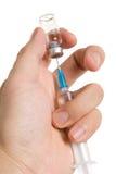Seringue et vaccination Photographie stock libre de droits