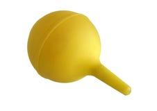 Seringue jaune d'ampoule Images stock