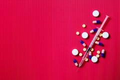 Seringue pour l'insuline image libre de droits