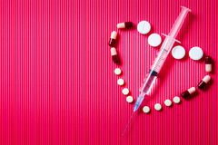 Seringue pour l'insuline photographie stock libre de droits