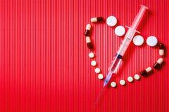 Seringue pour l'insuline image stock