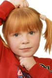 Serious. Cute redhead girl with very serious expression Royalty Free Stock Photo