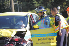 Serious Abbotsford Car Accident Stock Photography