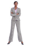 Serious african american woman in business suit Stock Image