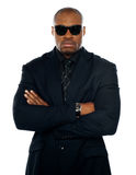 Serious african man in business suit Stock Image