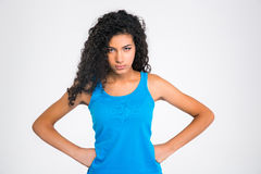 Serious afro american woman looking at camera Stock Photo