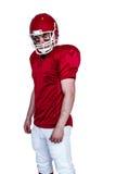 Serious american football player looking at camera Royalty Free Stock Image