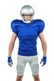 Serious American football player standing Stock Photos