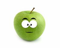 Serious apple Royalty Free Stock Photography