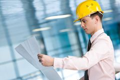 Serious architect Stock Photography