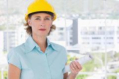 Serious architect looking at camera Stock Images