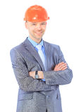 Serious architect man standing Royalty Free Stock Image