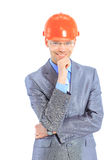 Serious architect man standing Stock Photography